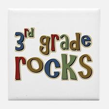 3rd Grade Rocks Third School Tile Coaster