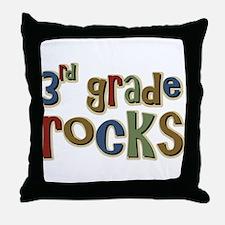 3rd Grade Rocks Third School Throw Pillow