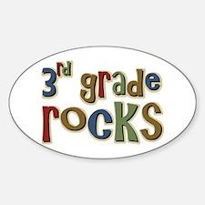 3rd Grade Rocks Third School Oval Decal