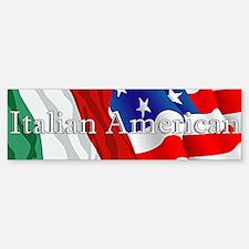 Italian American Logo Bumper Bumper Bumper Sticker