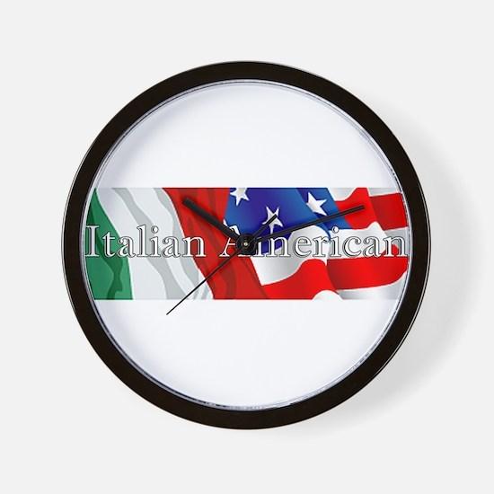 Italian American Logo Wall Clock