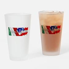 Italian American Logo Drinking Glass
