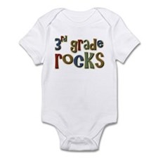 3rd Grade Rocks Third School Infant Bodysuit