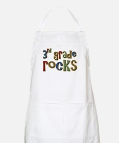 3rd Grade Rocks Third School BBQ Apron