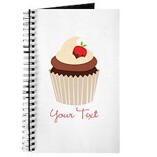 Cute Chocolate and Strawberry Cupcake, Girl Journa