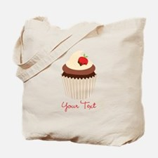 Cute Chocolate and Strawberry Cupcake, Girl Tote B