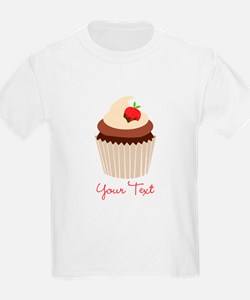 Cute Chocolate and Strawberry Cupcake, Girl T-Shir
