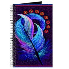 feather with flowers Journal