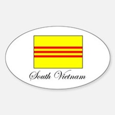 South Vietnam - Flag Oval Decal