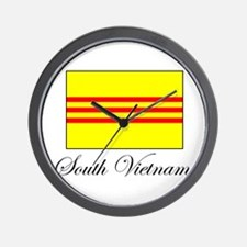 South Vietnam - Flag Wall Clock