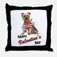 YORKIE LOVE Throw Pillow