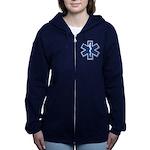 EMS EMT Rescue Logo Women's Zip Hoodie