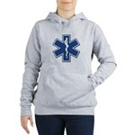 EMS EMT Rescue Logo Women's Hooded Sweatshirt