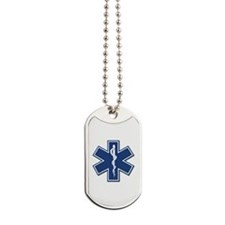 EMS EMT Rescue Logo Dog Tags