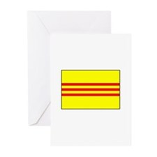 South Vietnamese Flag Greeting Cards (Pk of 10