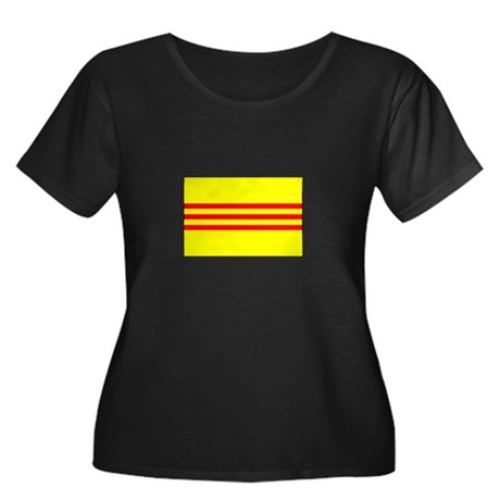 South Vietnamese Flag Women's Plus Size Scoop Neck