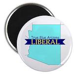 "2.25"" Magnet (10 pack) True Blue Arizona LIBERAL"