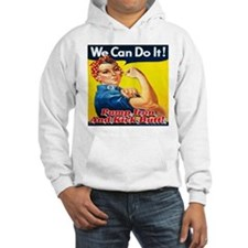 We Can Do It! Pump Iron And Kick Hoodie
