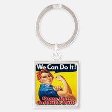 We Can Do It! Pump Iron And Kick B Square Keychain