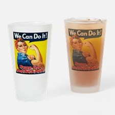 We Can Do It! Pump Iron And Kick Bu Drinking Glass
