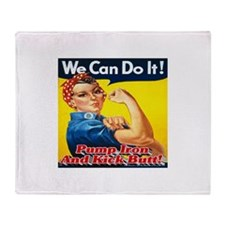 We Can Do It! Pump Iron And Kick But Throw Blanket