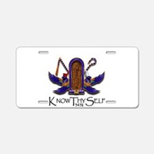 Knowthyself Logo Aluminum License Plate