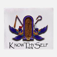 Knowthyself Logo Throw Blanket