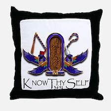 Knowthyself Logo Throw Pillow