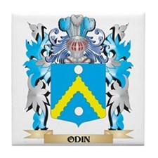 Odin Coat of Arms - Family Crest Tile Coaster