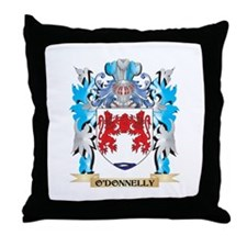 O'Donnelly Coat of Arms - Family Cres Throw Pillow