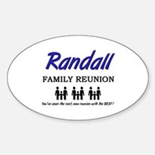 Randall Family Reunion Oval Decal
