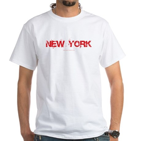 New York NYC White T-Shirt