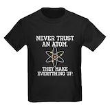 Never trust an atom Kids T-shirts (Dark)