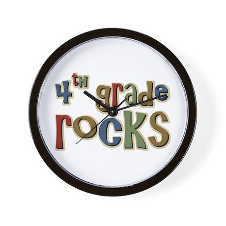4th Grade Rocks Fourth School Wall Clock