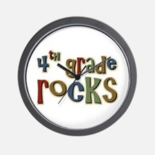 4th Grade Rocks Fourth School Wall Clock