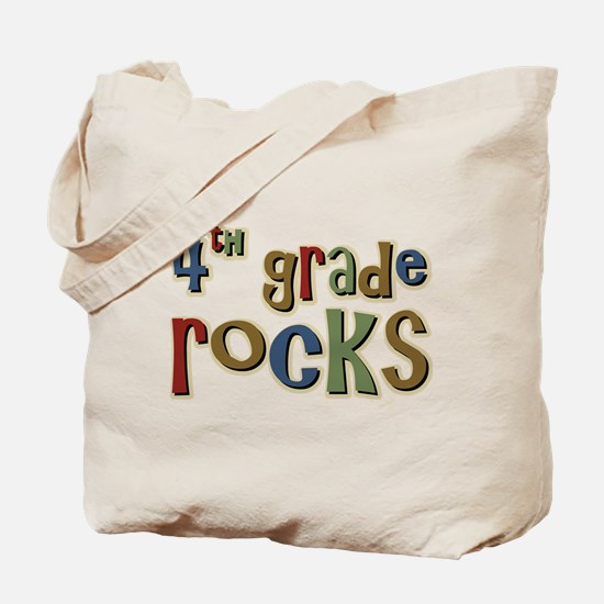 4th Grade Rocks Fourth School Tote Bag