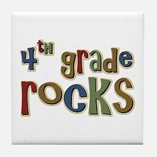 4th Grade Rocks Fourth School Tile Coaster