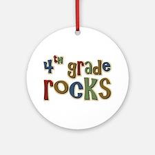 4th Grade Rocks Fourth School Ornament (Round)