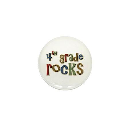 4th Grade Rocks Fourth School Mini Button (100 pac