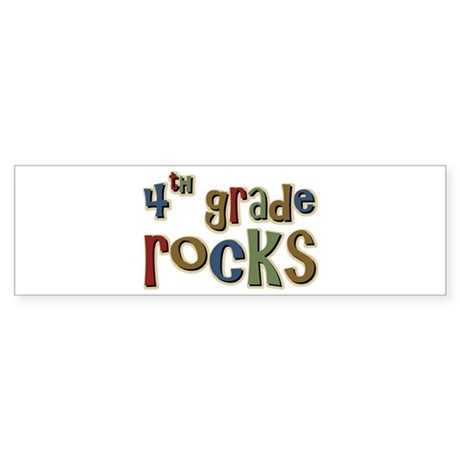 4th Grade Rocks Fourth School Bumper Sticker