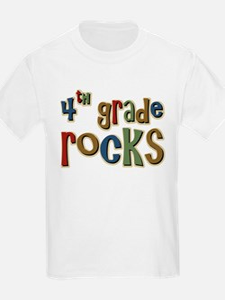 4th Grade Rocks Fourth School T-Shirt
