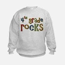 4th Grade Rocks Fourth School Sweatshirt