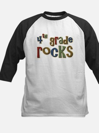 4th Grade Rocks Fourth School Kids Baseball Jersey