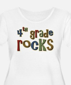 4th Grade Rocks Fourth School T-Shirt