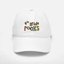 4th Grade Rocks Fourth School Baseball Baseball Cap