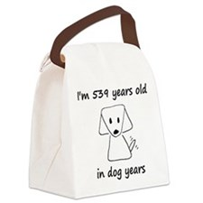 77 dog years 6 Canvas Lunch Bag