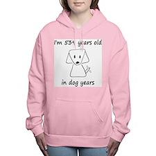 77 dog years 6 Women's Hooded Sweatshirt