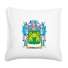 O'Reilly Coat of Arms - Famil Square Canvas Pillow