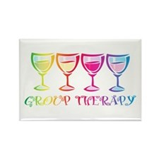 Wine Group Therapy 2 Rectangle Magnet