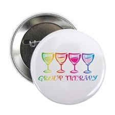"""Wine Group Therapy 2 2.25"""" Button (10 pack)"""